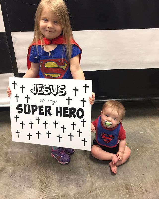 We had some little superheroes today too! #makingeverystorymatter #newheartba