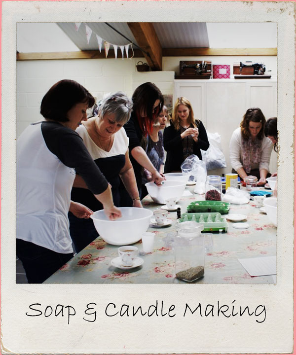 A friggin' fantastic crafty day in which you'll learn the art of soap & candle making in this 6 hour workshop in rural North Devon studio Includes Croissants on arrival, lunch & afternoon tea Click for more details