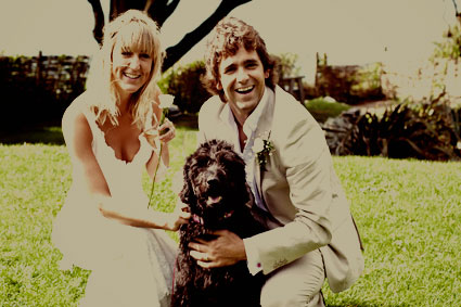 Me, Hubby & Murphy on our wedding day