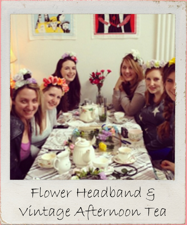 Gather your gals for a crafty themed hen party as you create creating flower garland headbands followed by vintage afternoon tea in our retro tea house.