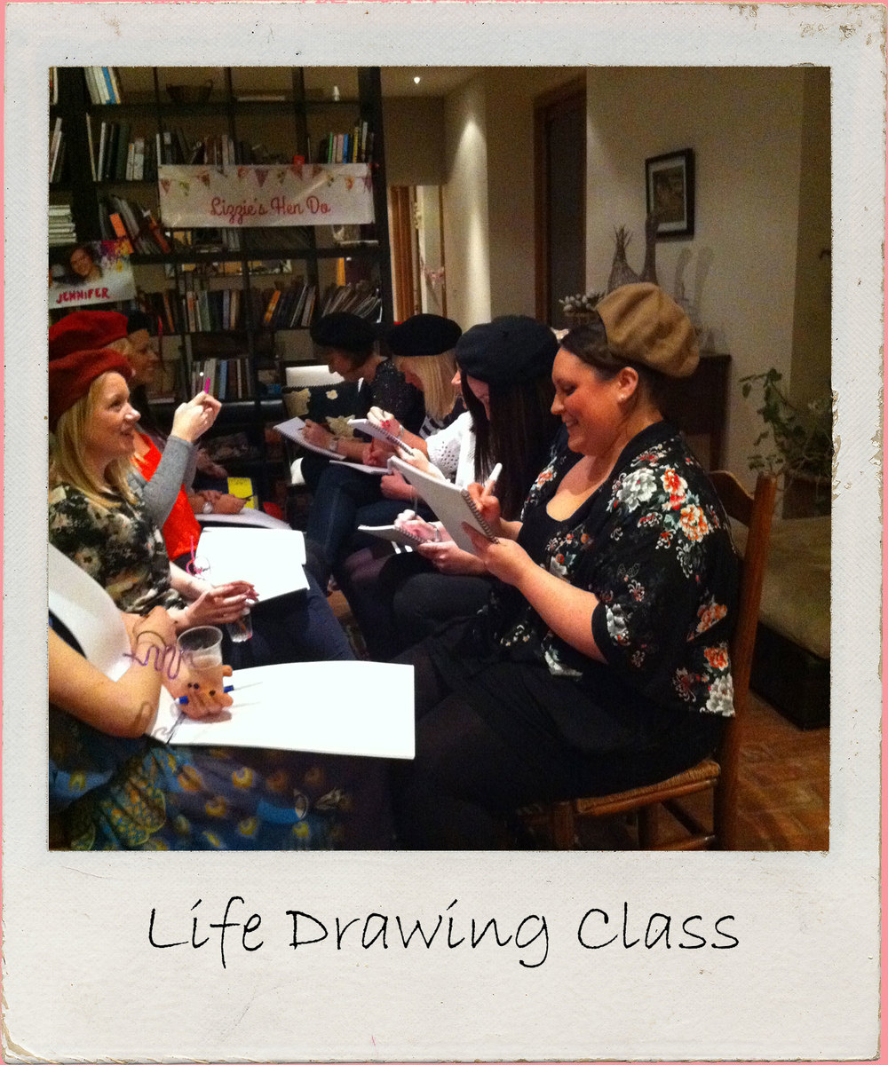 Life Drawing Hen Party  Group Bath