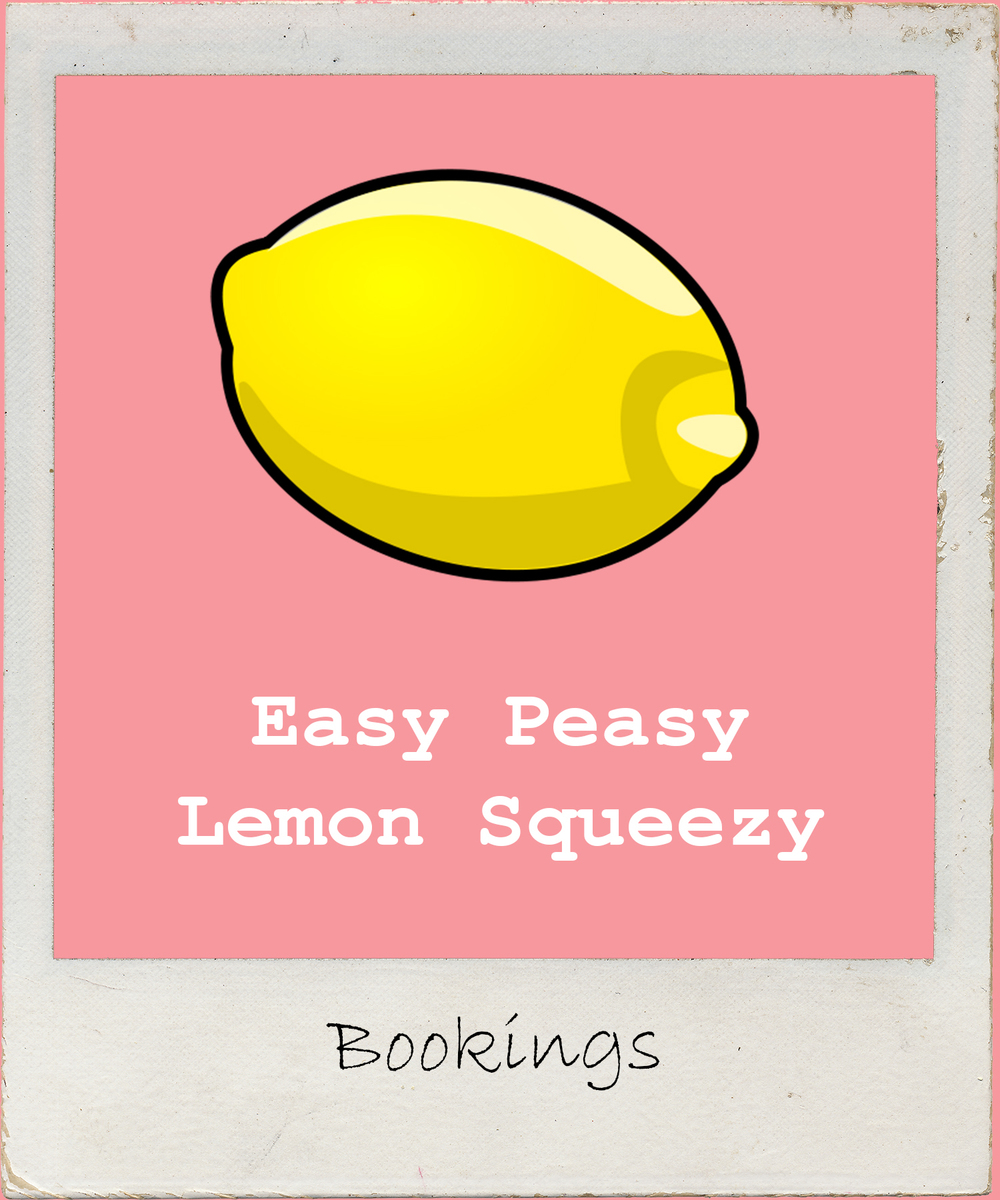 Click to read how easy peasy our booking process is - straight forward & hassle free. Whoop!