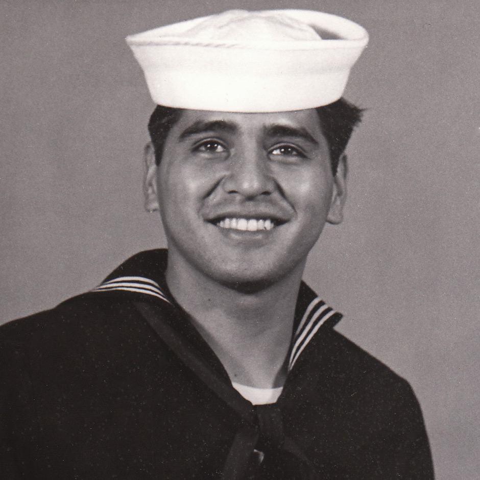 Here is photo of my dad when he served in the US Navy back in the late 60's.