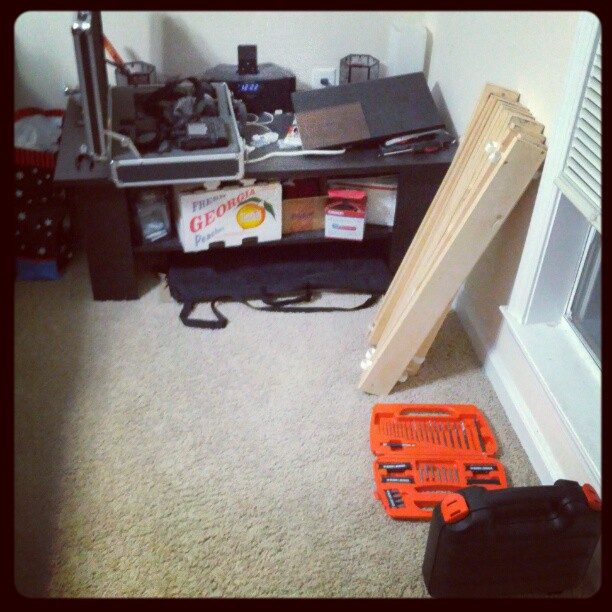 Can't really tell from the photo but I have a lot more room to work now. #photographer #studio #workspace