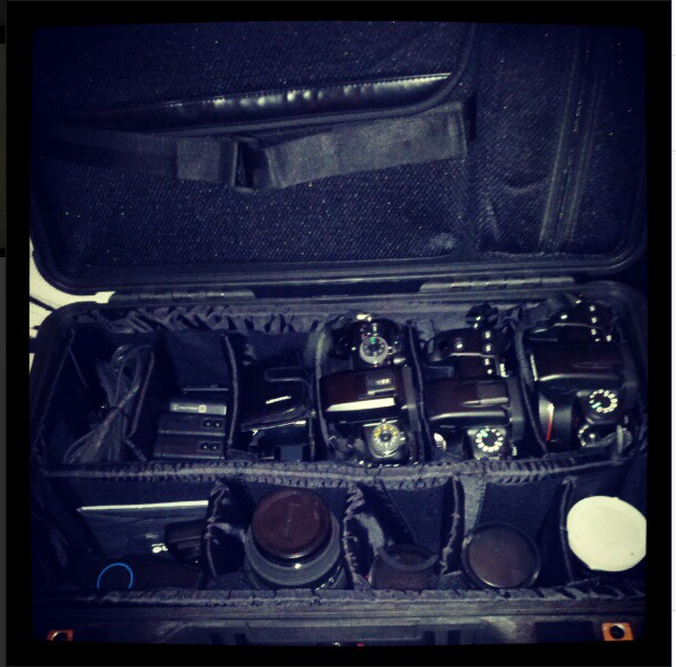 Pelican case loaded