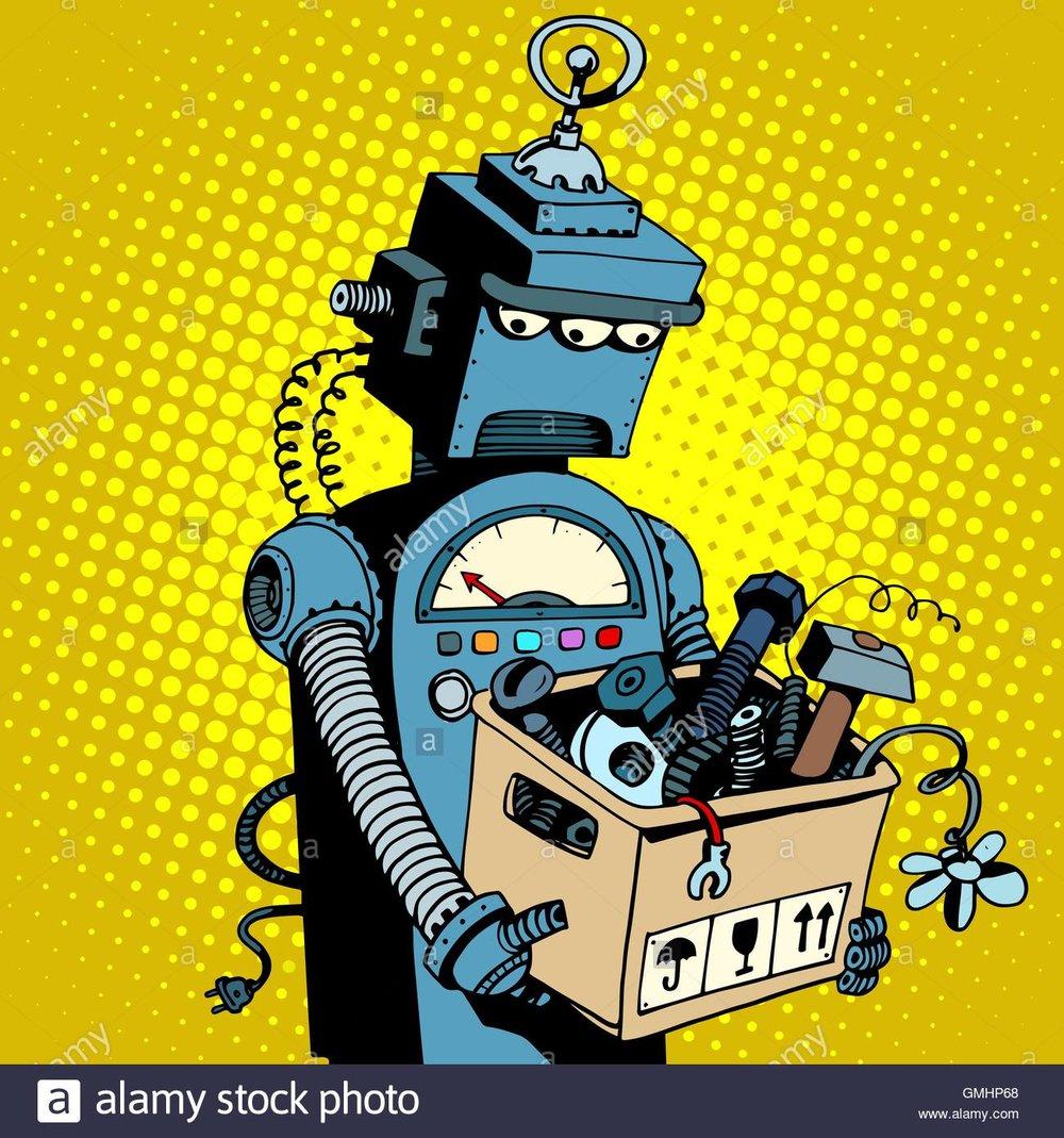 sad-retro-robot-leaves-work-GMHP68.jpg