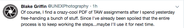 """Of course, I find a crazy-cool PDF of TAW assignments after I spend yesterday free-handing a bunch of stuff. Since I've already been spoiled that the entire process is to keep working the steps...maybe I'll use it for next time."""
