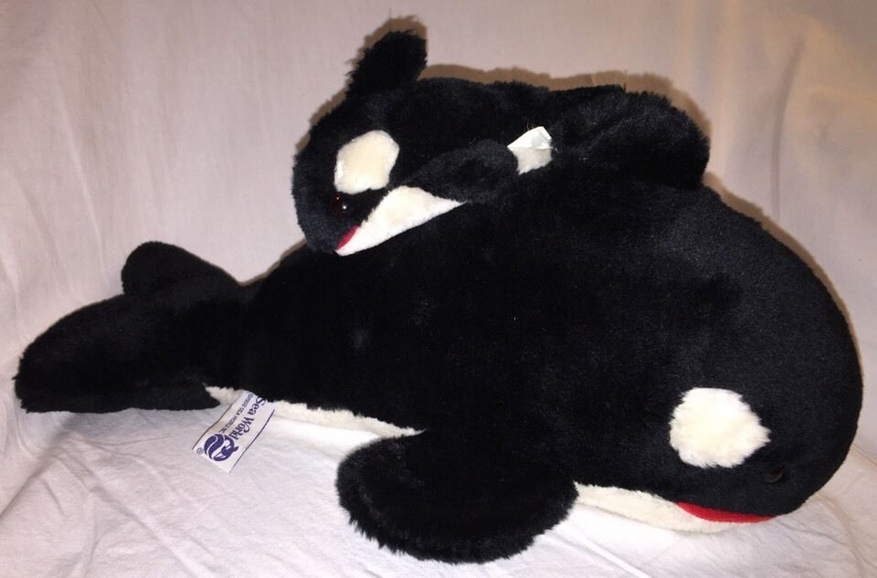 This was the stuffed Shamu, with her baby. This damn thing didn't leave my side until I was almost a teenager.