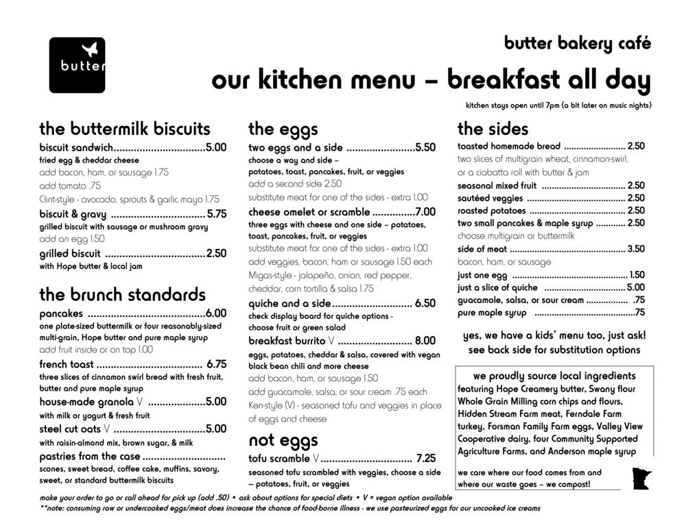 kitchen menu 2016