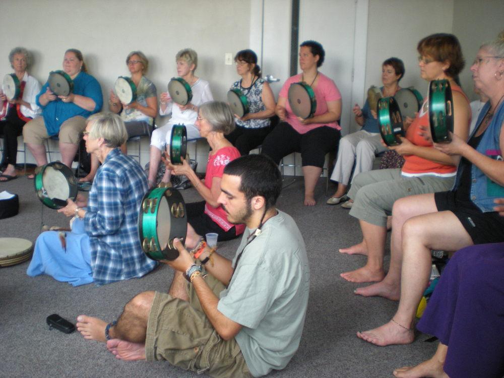 A tambourine workshop