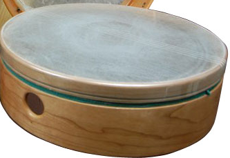 A tar from Cooperman Fife and Drums. It is the frame drum today that is closest to the ancient grain sieve, considered the original source of this drum.