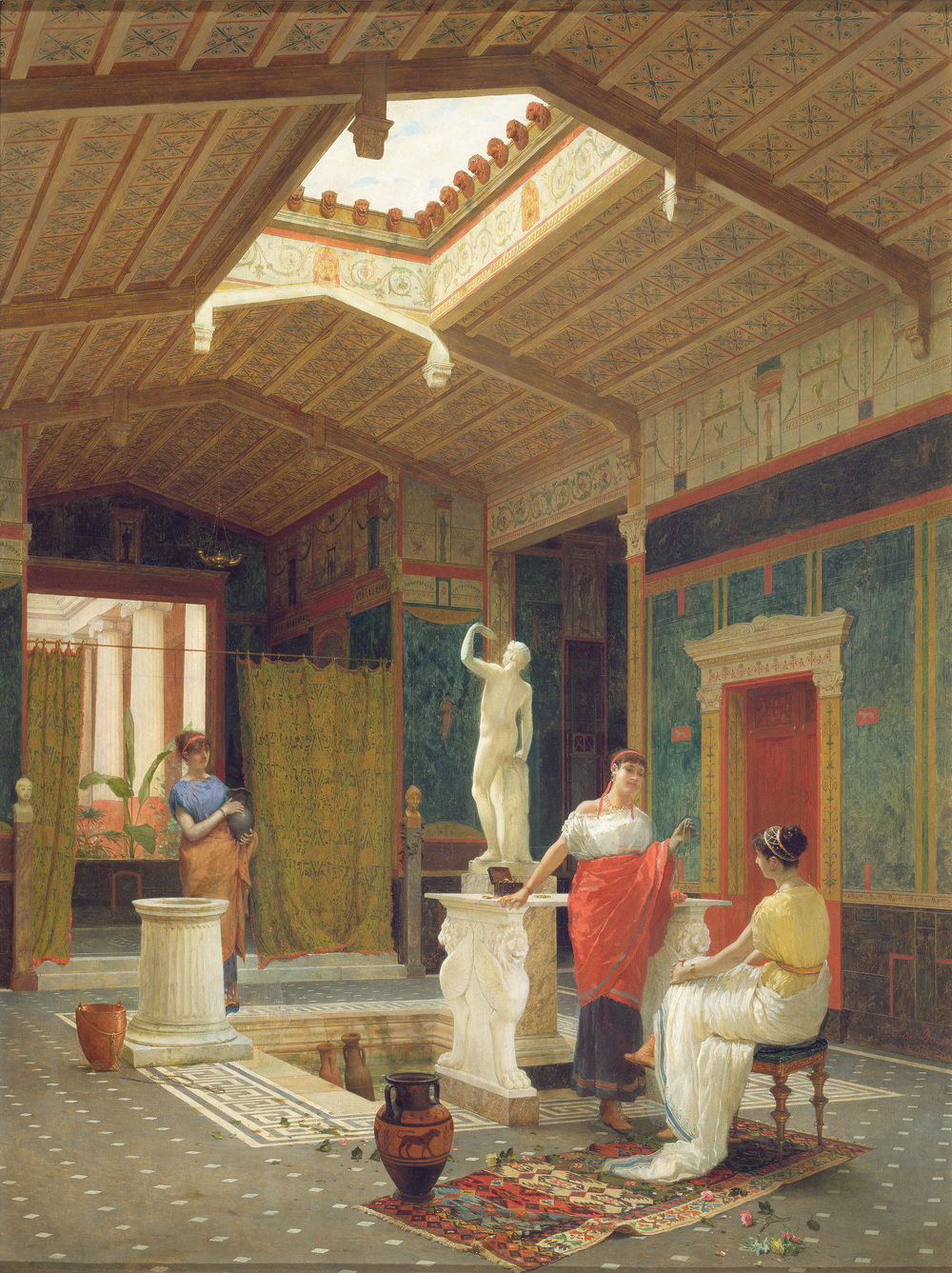 A Pompeian Interior by Luigi Bazzani. ©.Dahesh Museum of Art, 1996.24.  Used with permission.