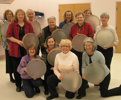 Bracebridge United Church Biblical Drummers with brand new tars!