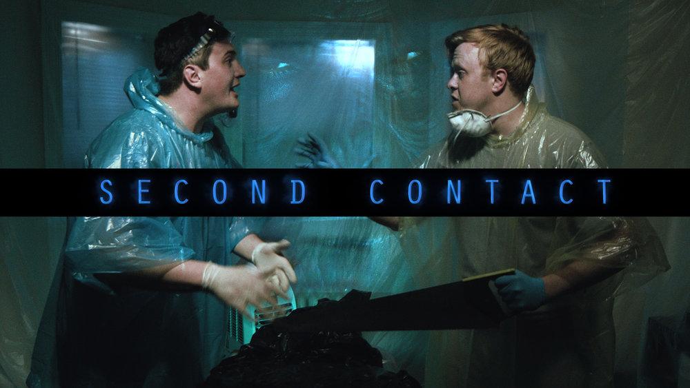Second Contact - Two fugitives are involved in an extraterrestrial hit and run as their attempt at a coverup distracts from the real danger.