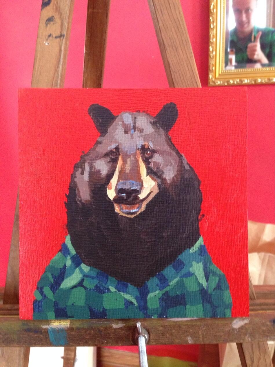 A bear in flannel. @BRNKillo