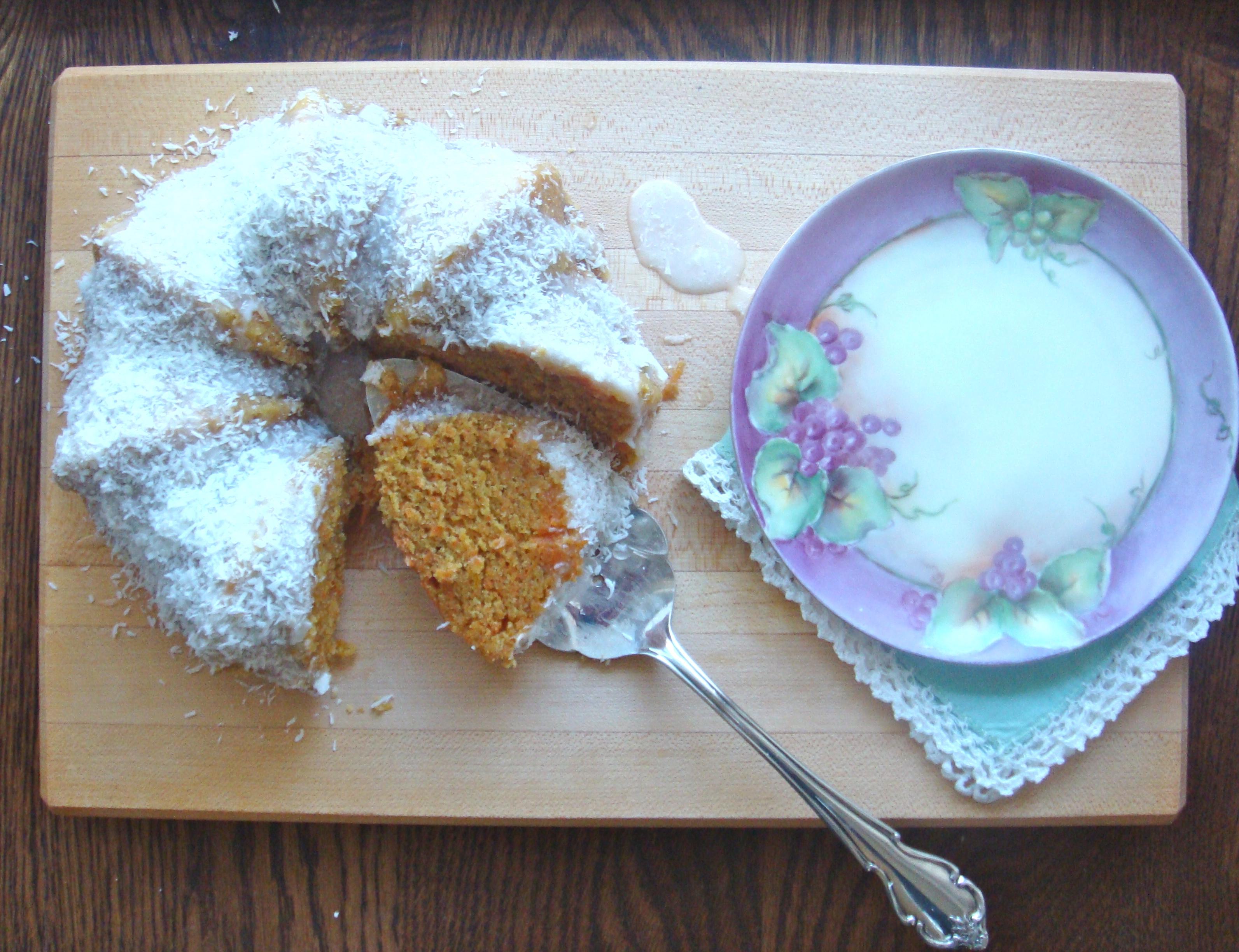 carrot coconut cake baked