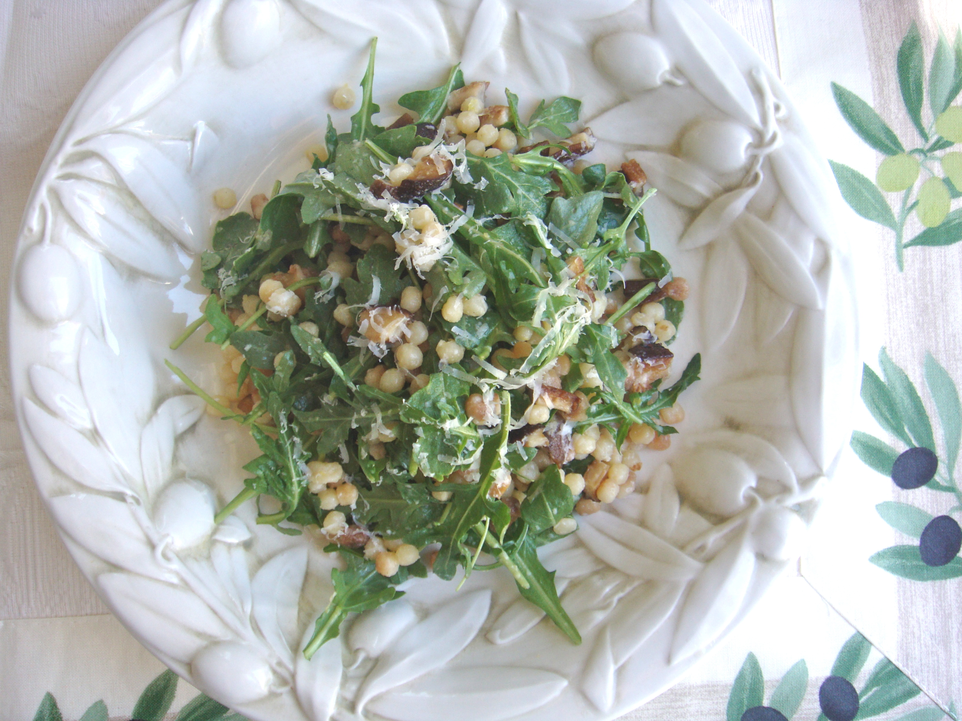 arugula and fregula salad