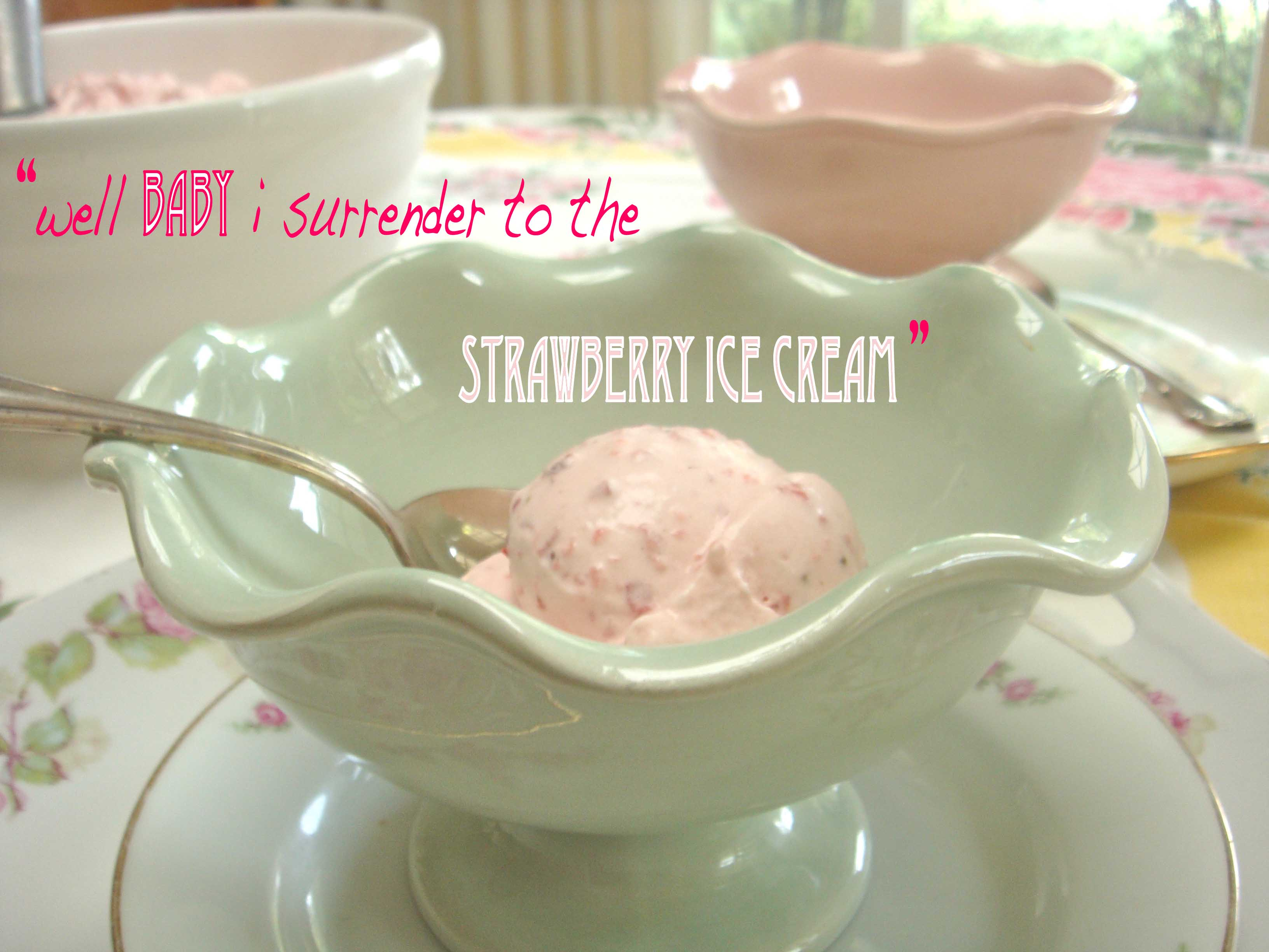 strawberry sour ice cream