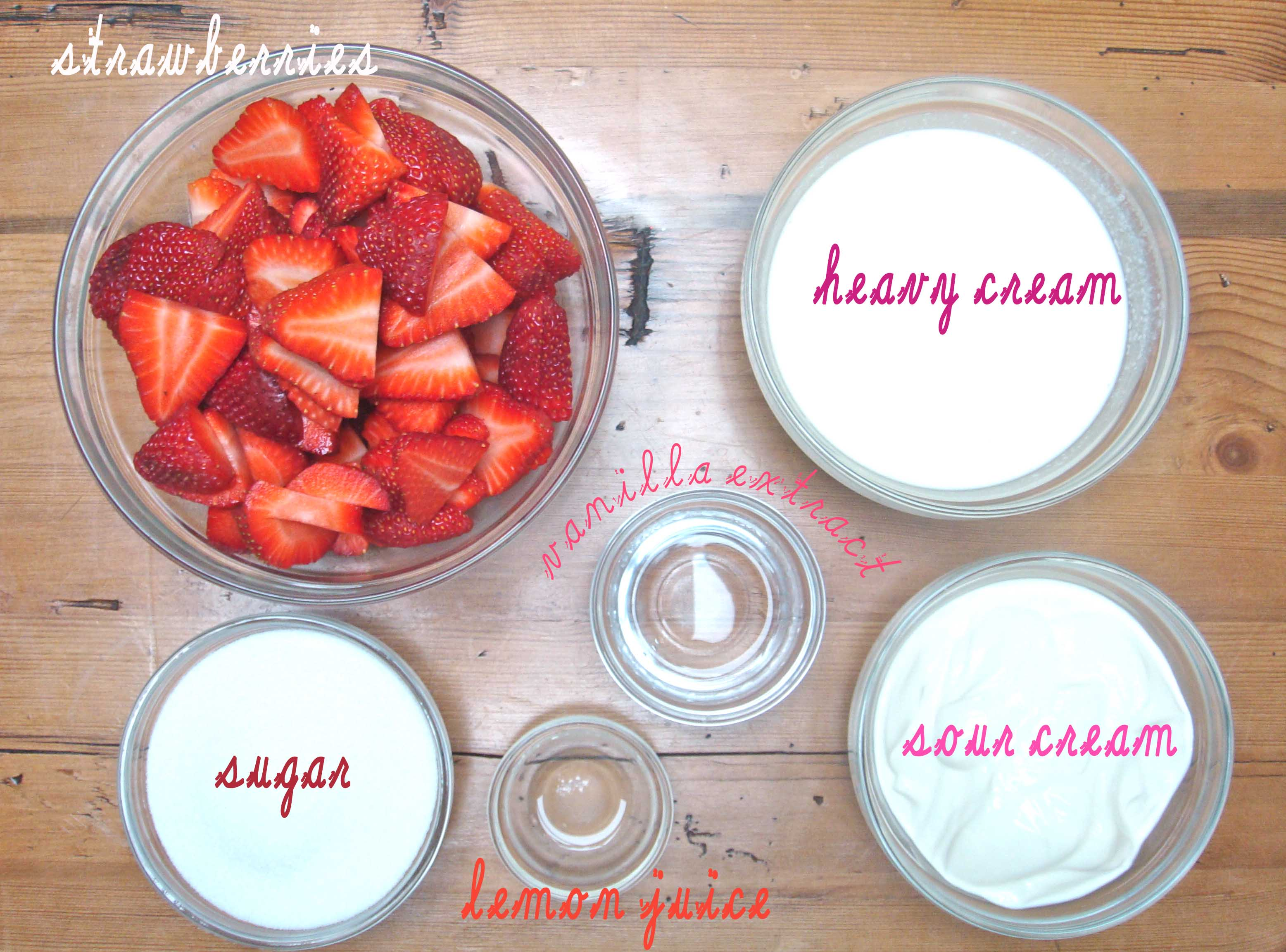 strawberry sour ice cream ingredients