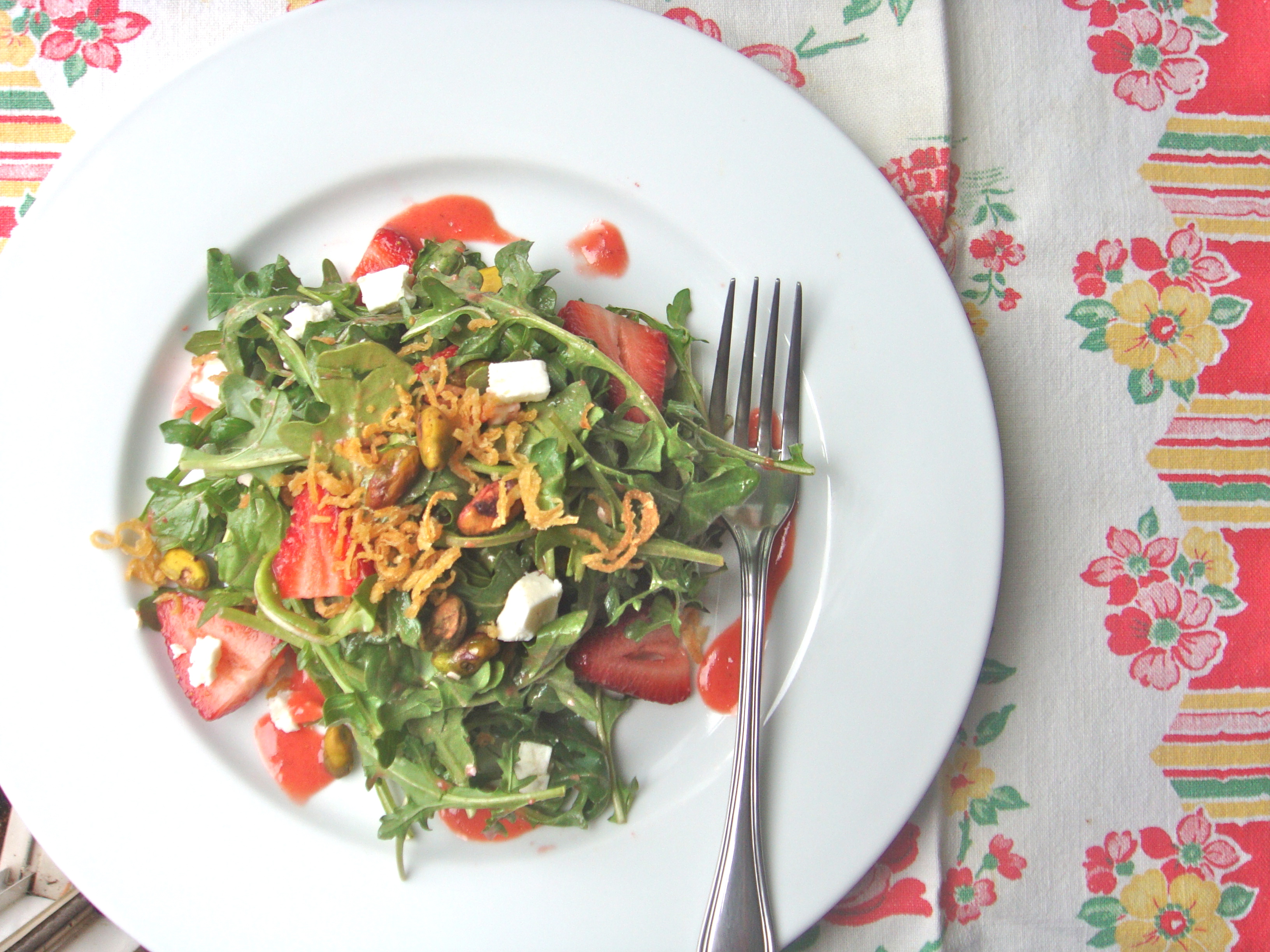 arugula and straw salad