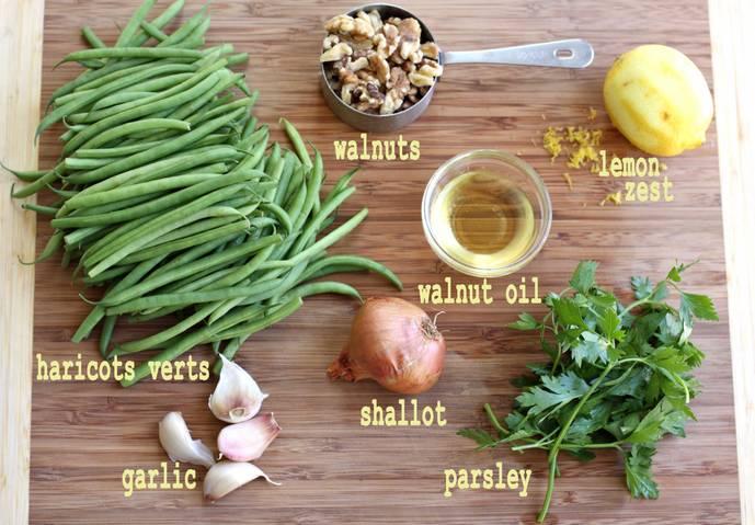 green beans w/ walnuts mep