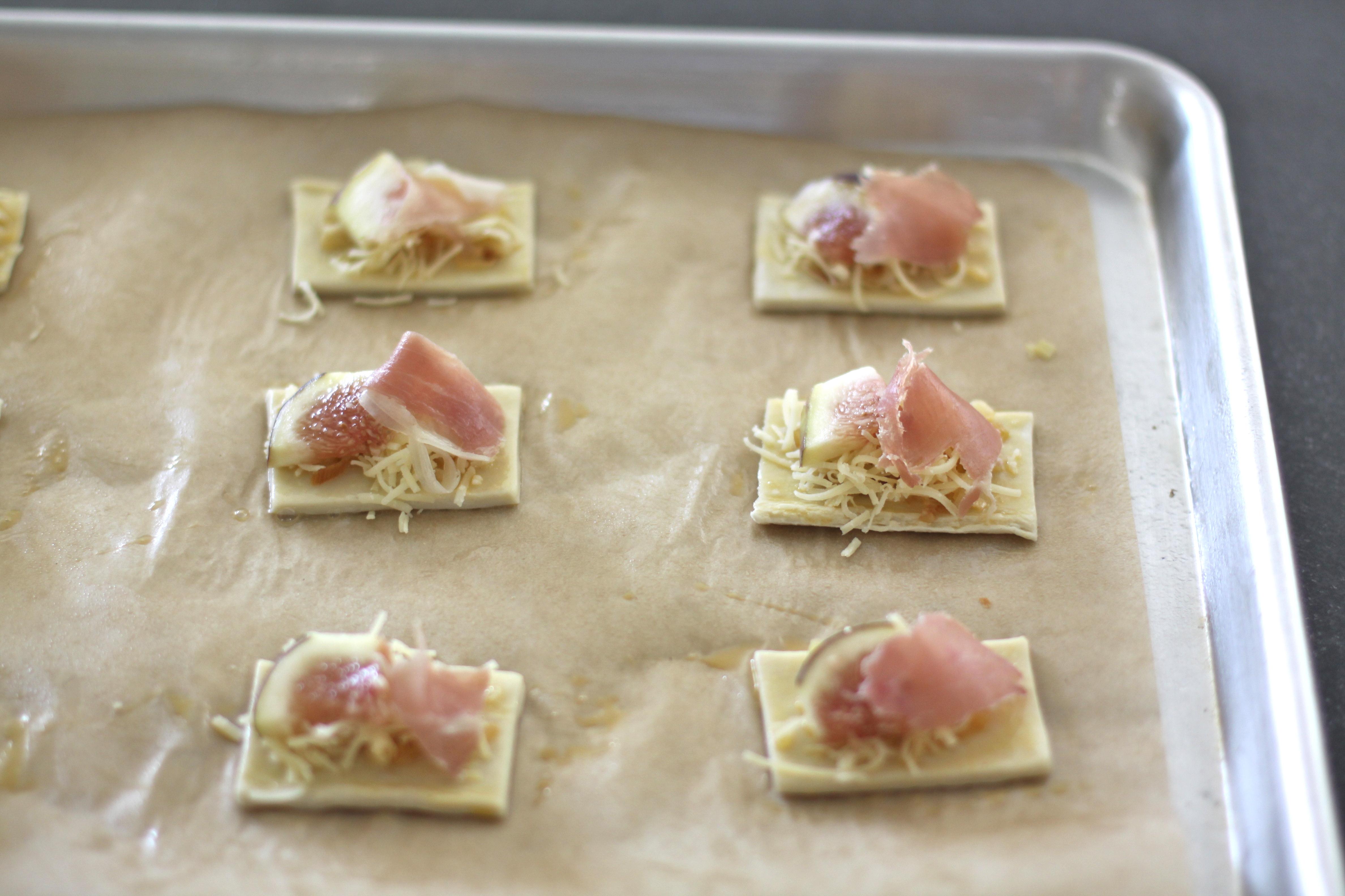 Fig, Prosciutto & Leek Tarts