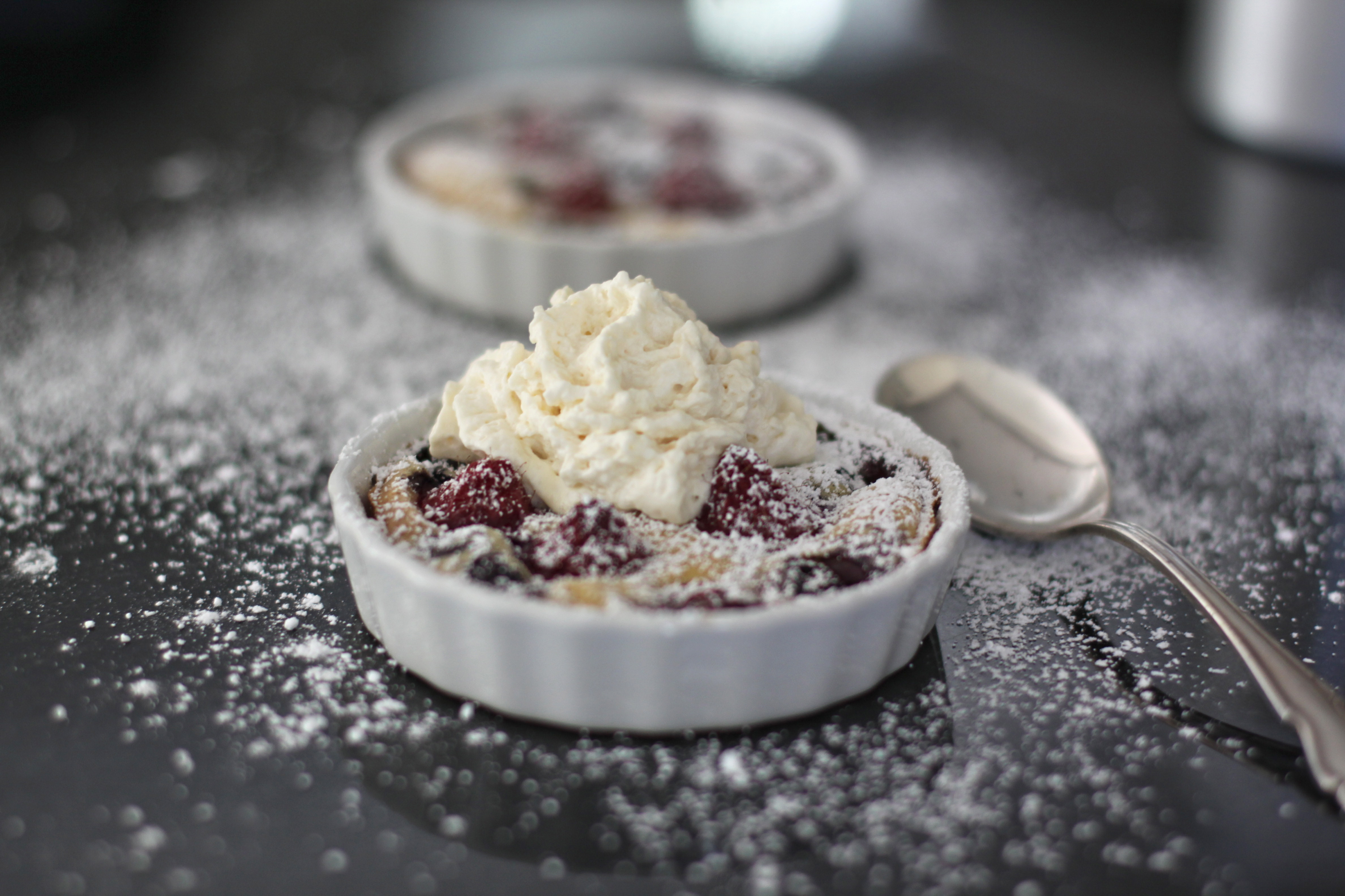 Mixed Berry & Cookie Butter Clafoutis