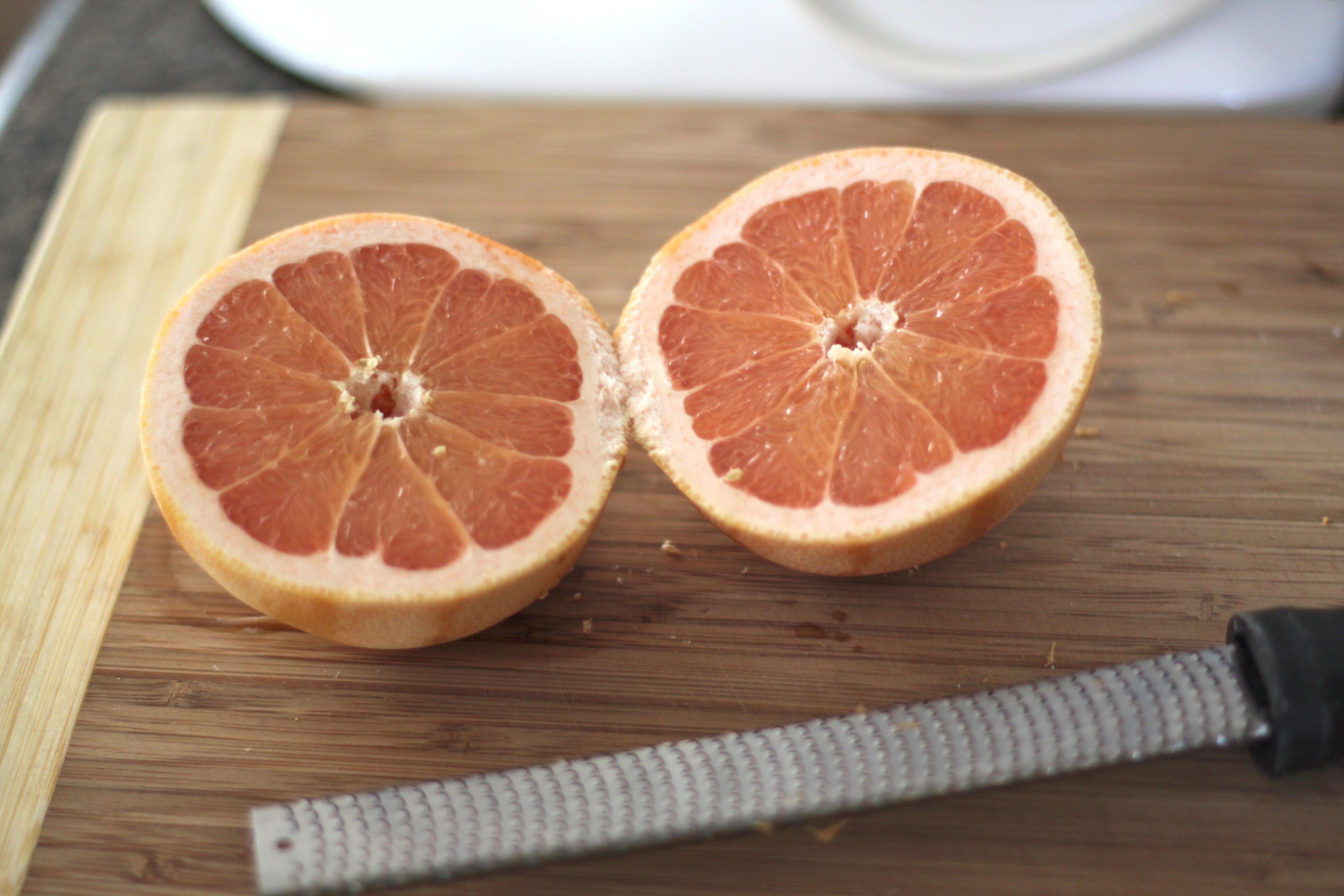 Grapefruit Glazed Madeleines