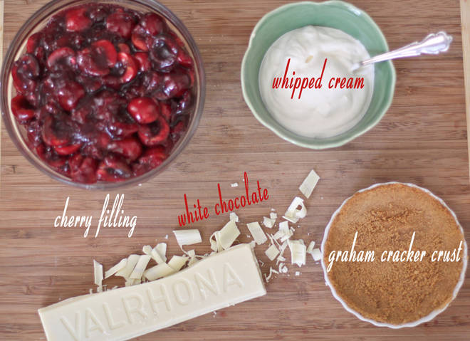 Cherry Icebox Pie w/ White Chocolate