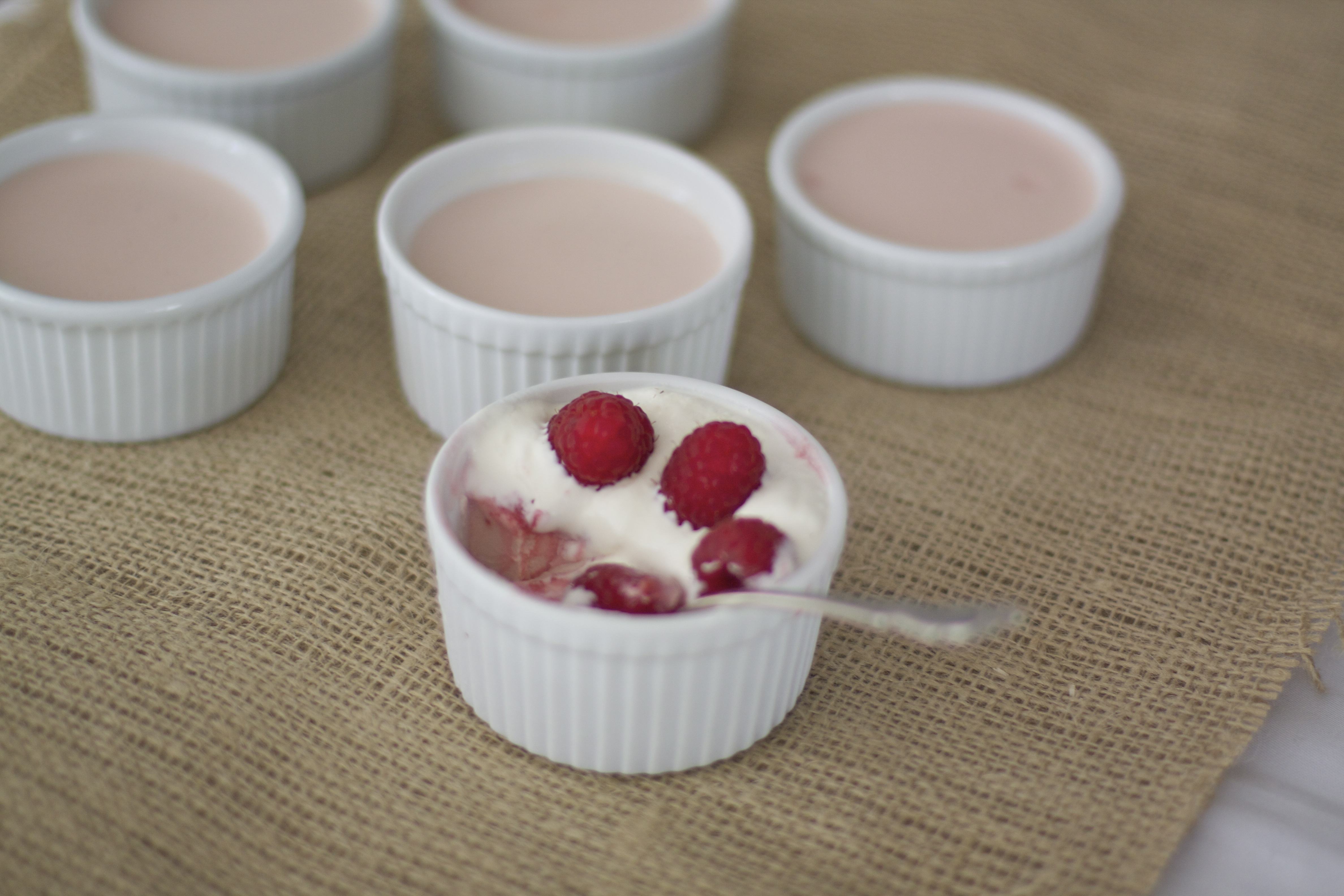 Raspberry and Rose Water Panna Cotta