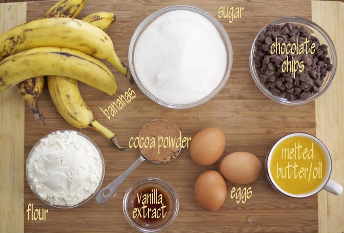 Cakey Banana Brownies