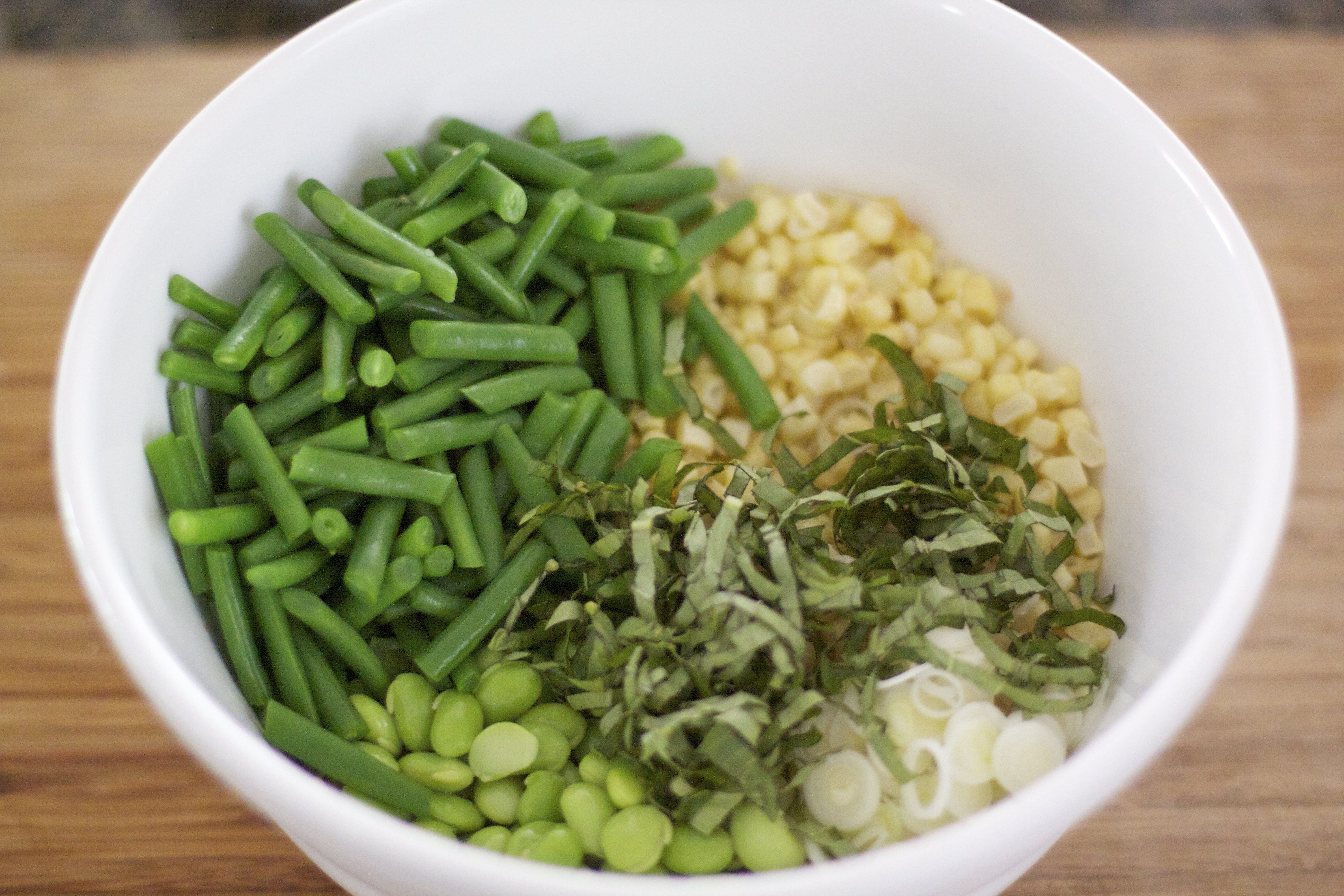 Corn w/ Haricots Verts & Soy Beans