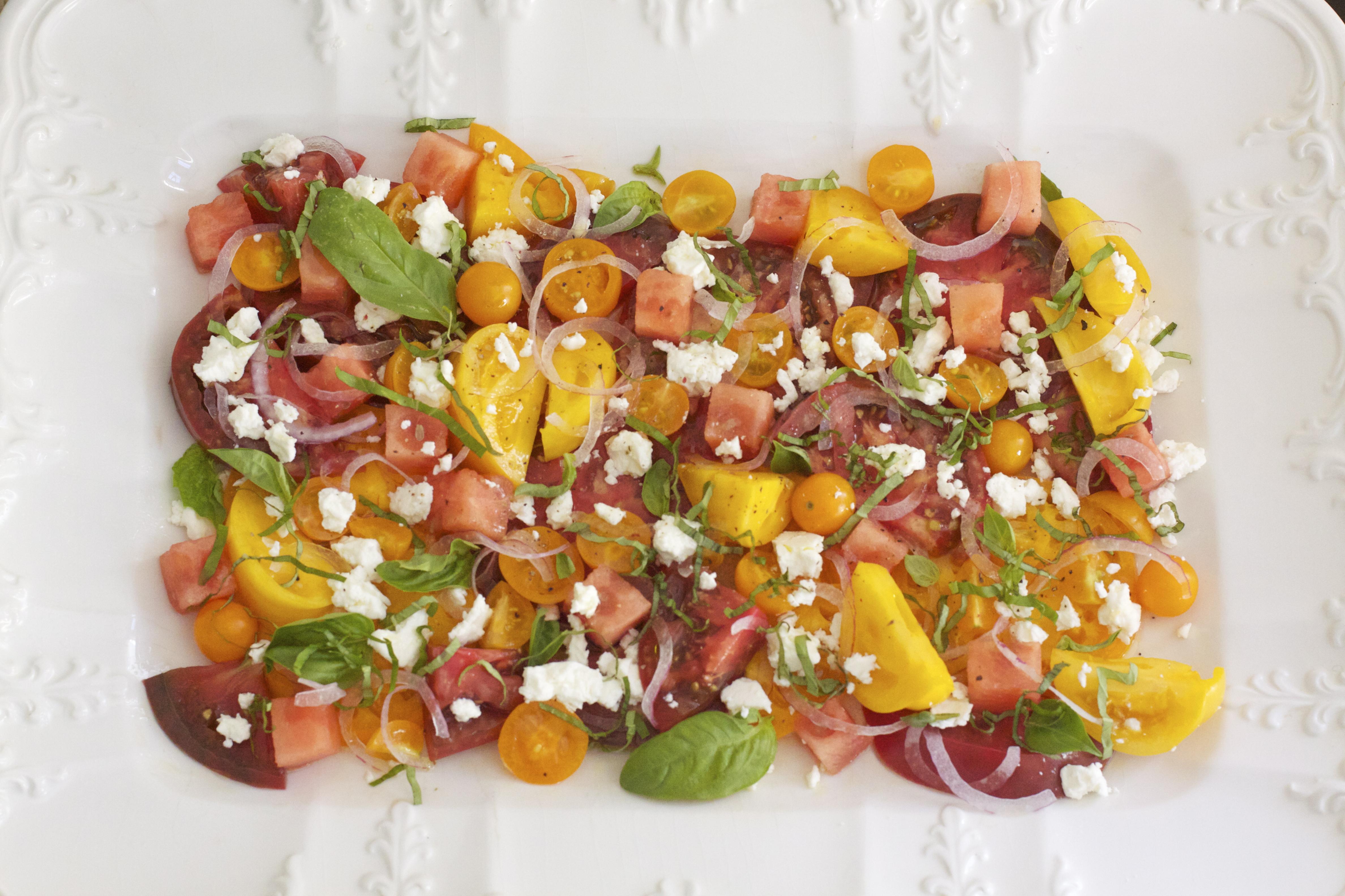 Heirloom Tomato & Watermelon Salad