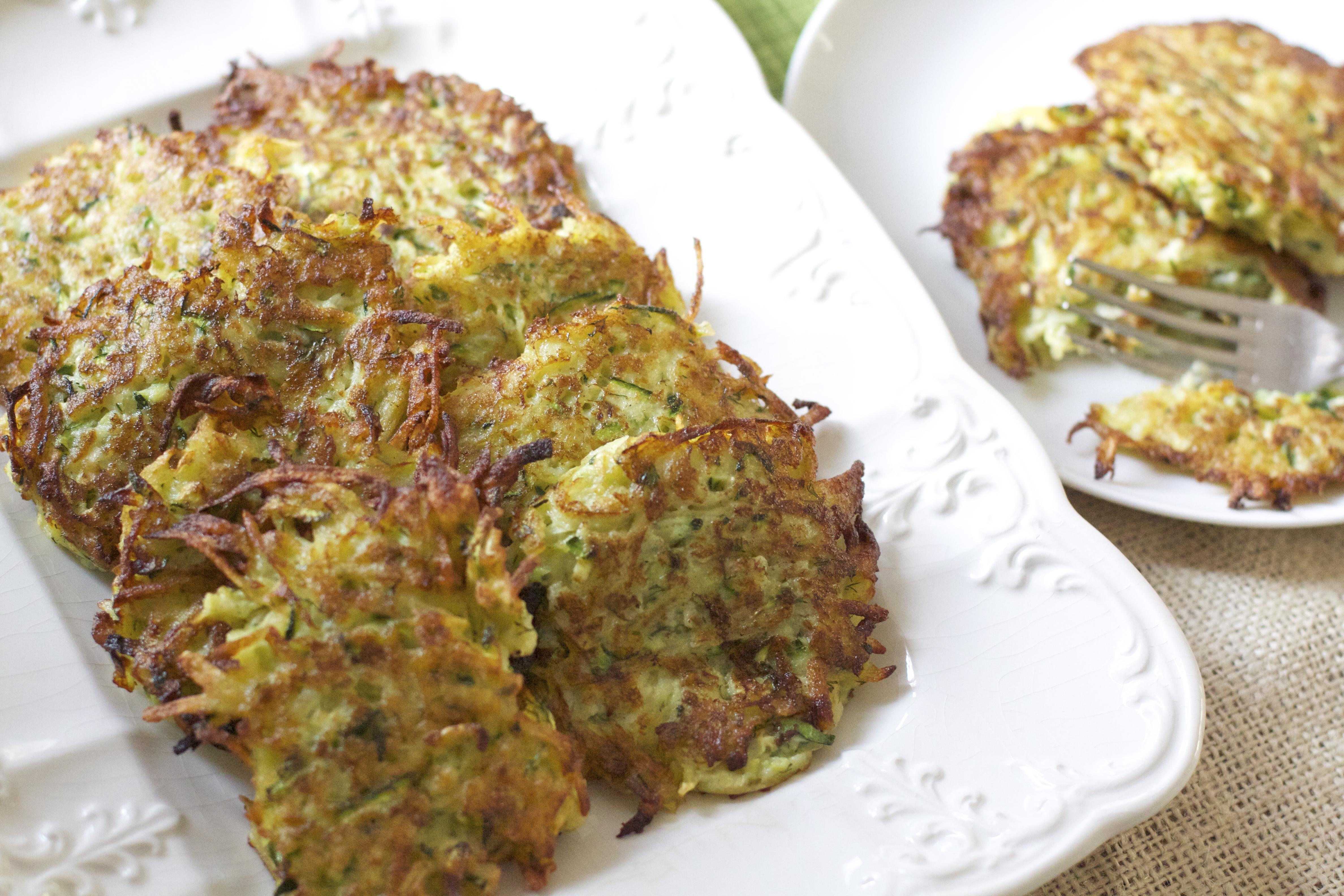 Zucchini-Dill Potato Cakes