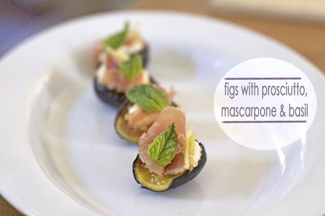 Figs w/ Prosciutto, Mascarpone & Basil