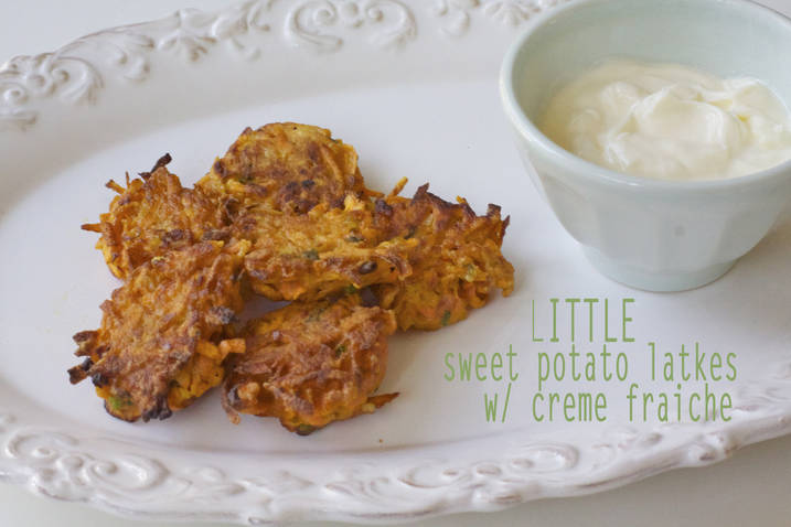 Little Sweet Potato Latkes