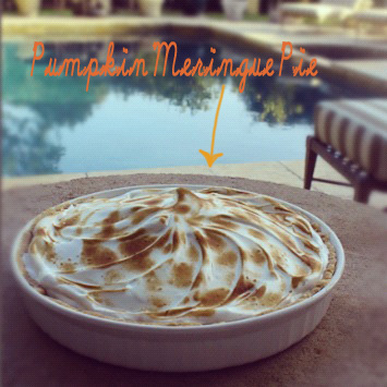 pumpkin meringue pie.