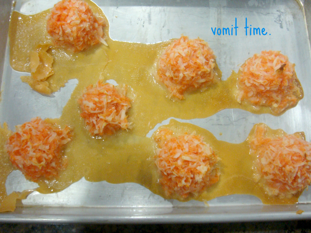 {ill-conceived carrot-coconut macaroons}