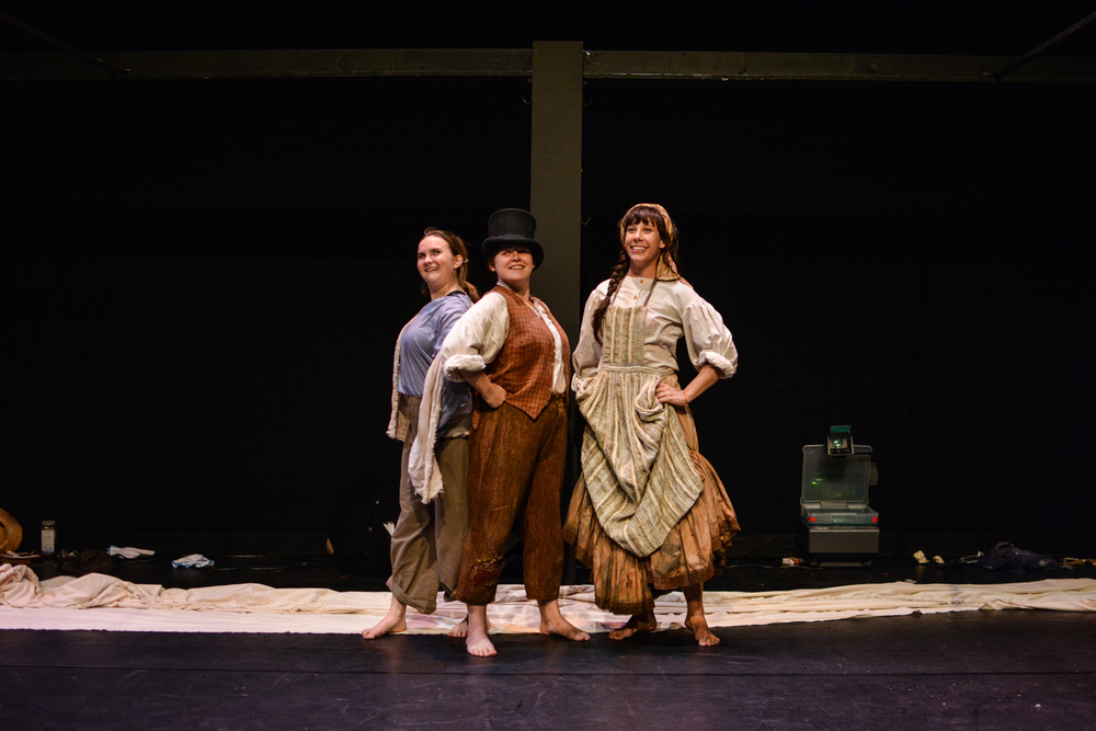 Kristina as Euphrasie with Sara Glancy and Amalia Oswald in  Marvellous . Photo by Kelley Van Dilla.