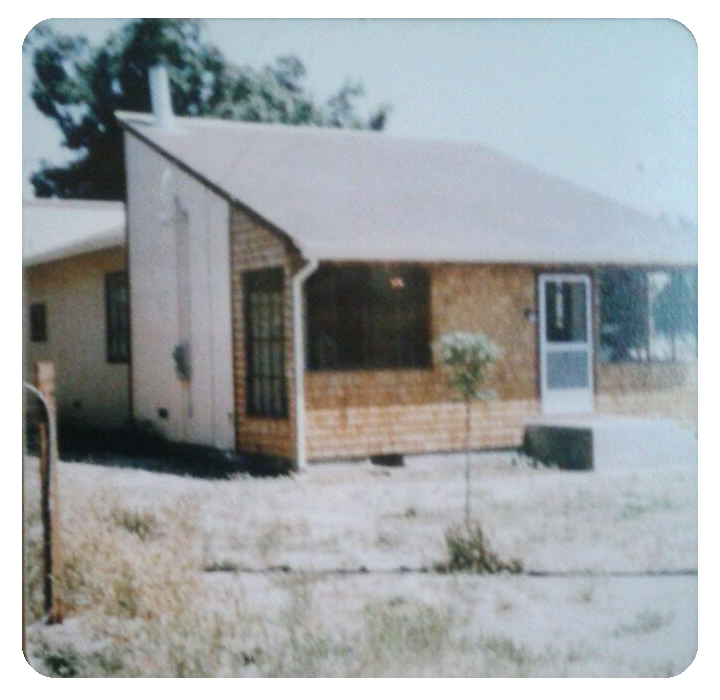 Photo taken when Mom and Dad first bought our house in 1979.