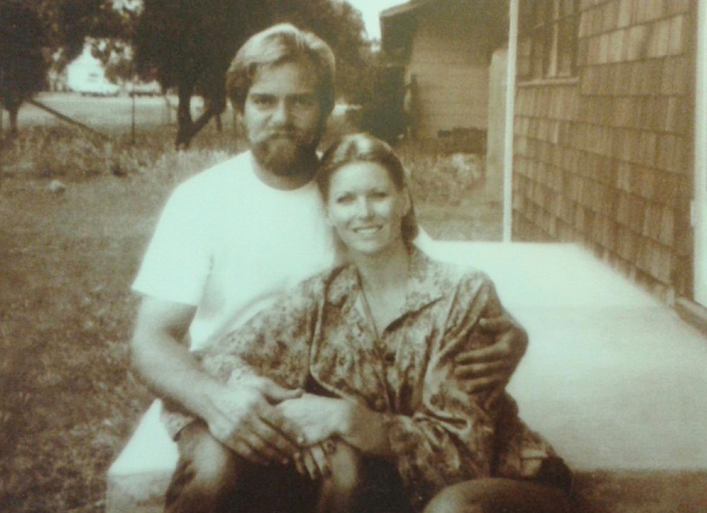 Mom and Dad on the front porch in 1979.