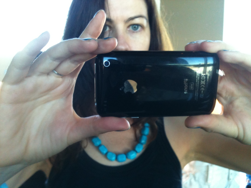 This was supposed to be a selfie of me (August 2010) but it's actually a selfie of the 3G iPhone.