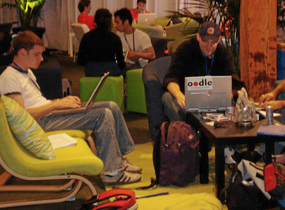 Photo of F8 2007  from the Oodle blog which covered the event
