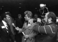 On assignment with cameraman Ed Thalrose, 1987.