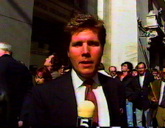 Outside the NYSE, Black Monday, 1987.