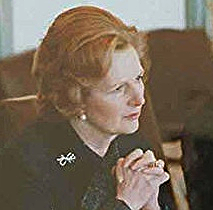 British Prime Minister Margaret Thatcher on an official visit to Washington shortly after her election in 1979.
