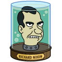 "Richard Nixon ""preserved head"" on the TV cartoon series ""Futurama."""