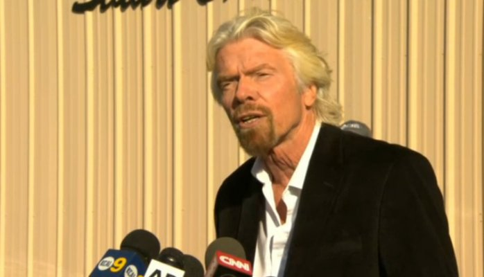 Richard Branson: a role model for good crisis communication.   Photo from Virgin Galactic.