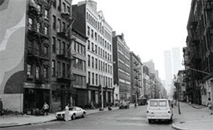 West Broadway in New York's SoHo neighborhood as it appeared in 1974.  Courtesy therealdeal.com.