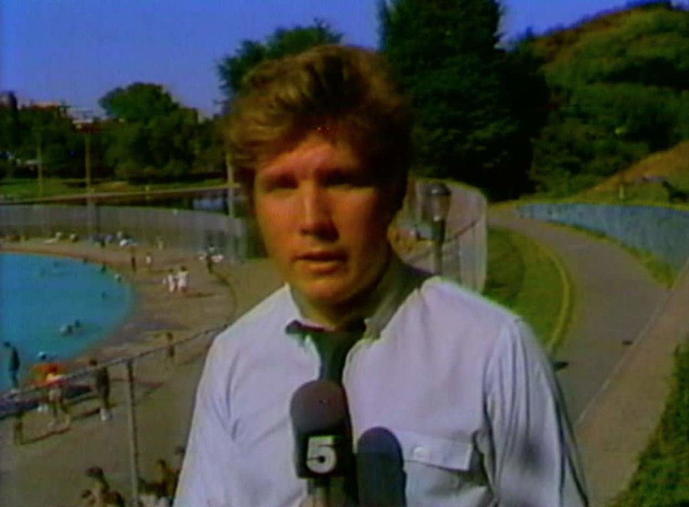 Steve Dunlop reporting from Central Park in 1984, about a year after he was told to give up the walking talking standup.